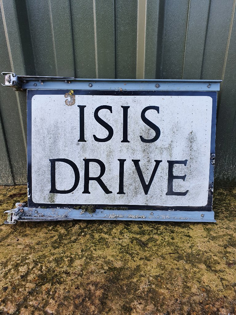 "Sign – Double Sided ""Isis Drive"""