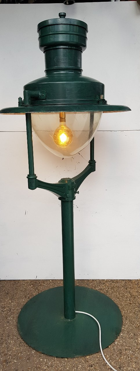 Green Sugs Up Cycled Lights On Posts And Stand