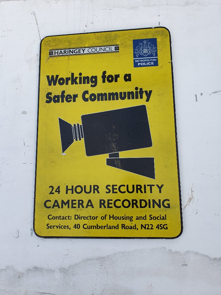 Metropolitan Police Camera Surveillance Sign