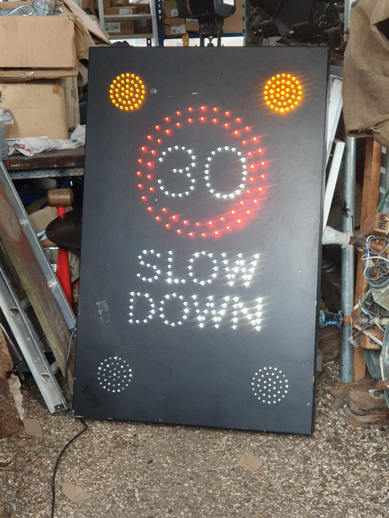 Vehicle Activated 30 Mph Speed Led Flashing Signs