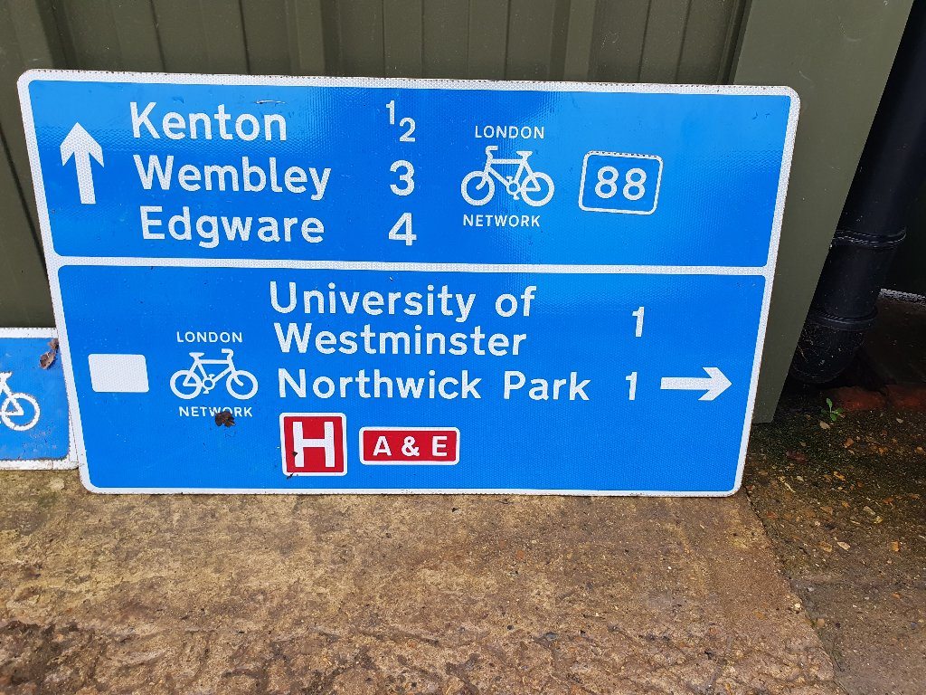 Large Sign – Kenton/Wembley/Edgware/University Of Westminster /Northwick Park Hospital