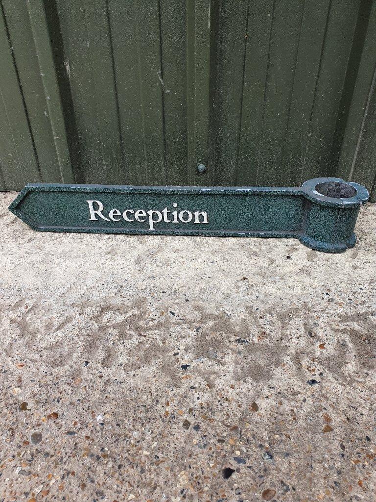 Reception Finger Post Sign