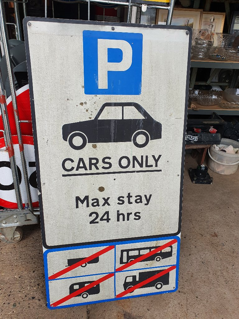 Car Park Sign – Max Stay 24 Hours
