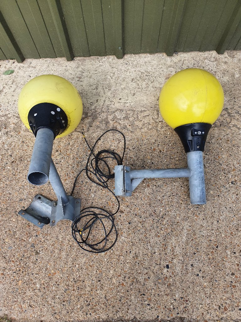 Yellow Belisha Beacons On Brackets