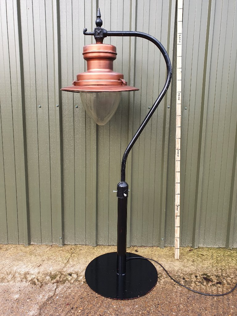 DW Windsor Strand Copper Painted Up Cycled On Swan Neck