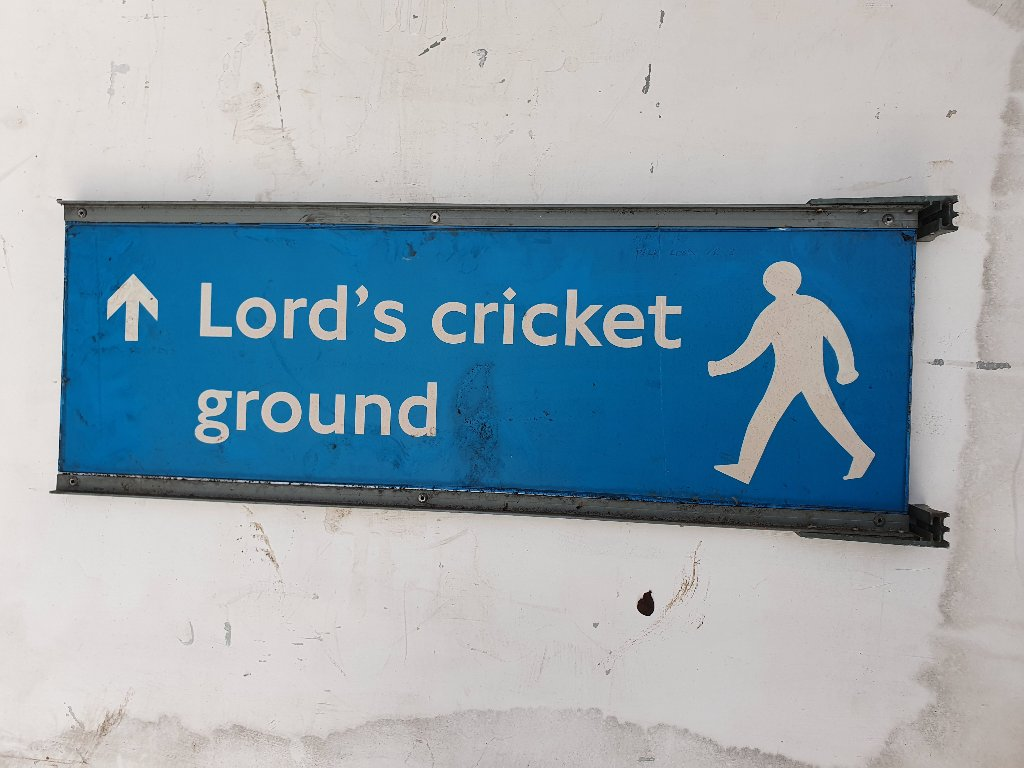 Baker Street / Lords Cricket Ground Sign