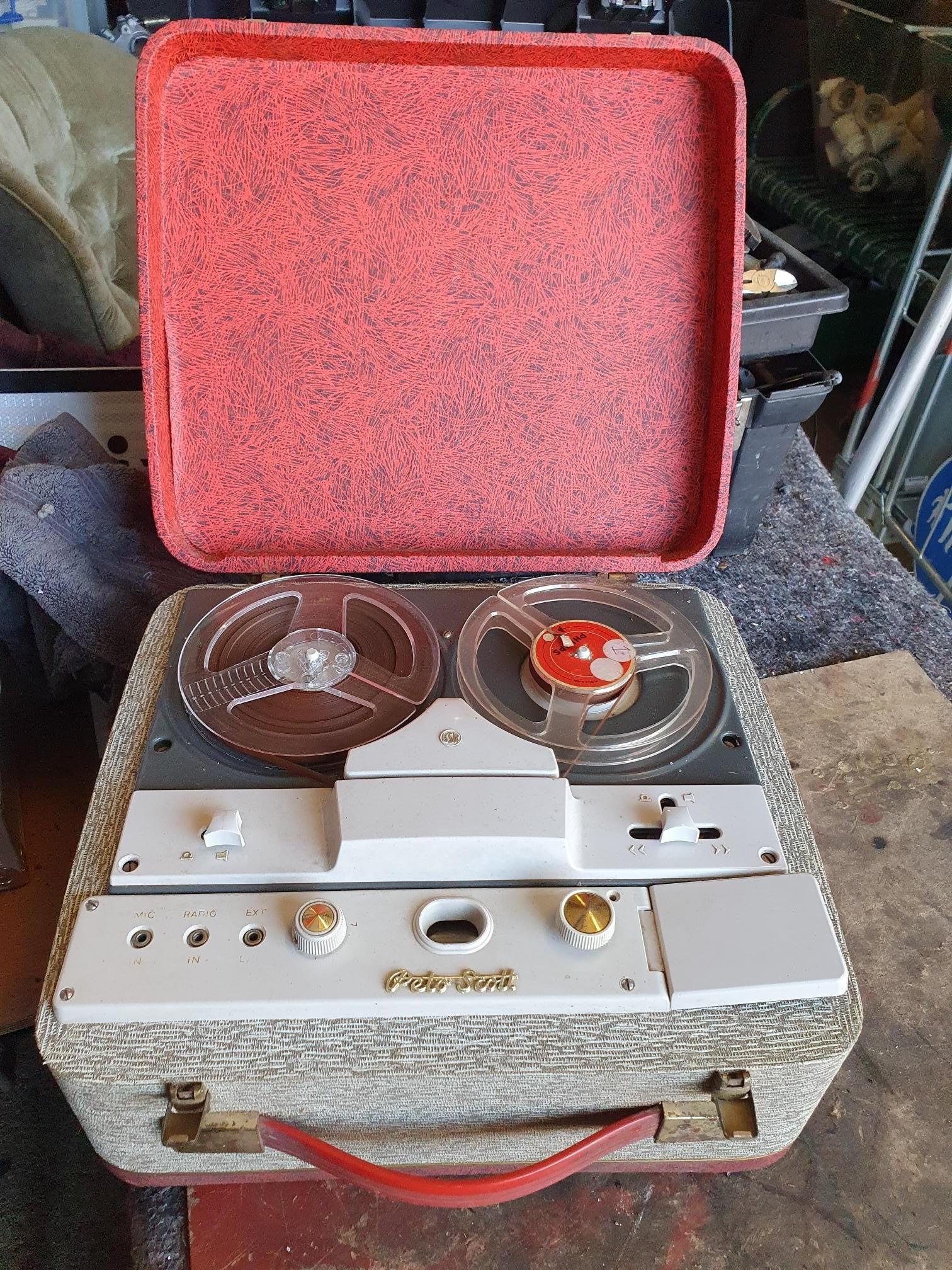 Peto Scott Reel To Reel Portable Tape Recording Machine