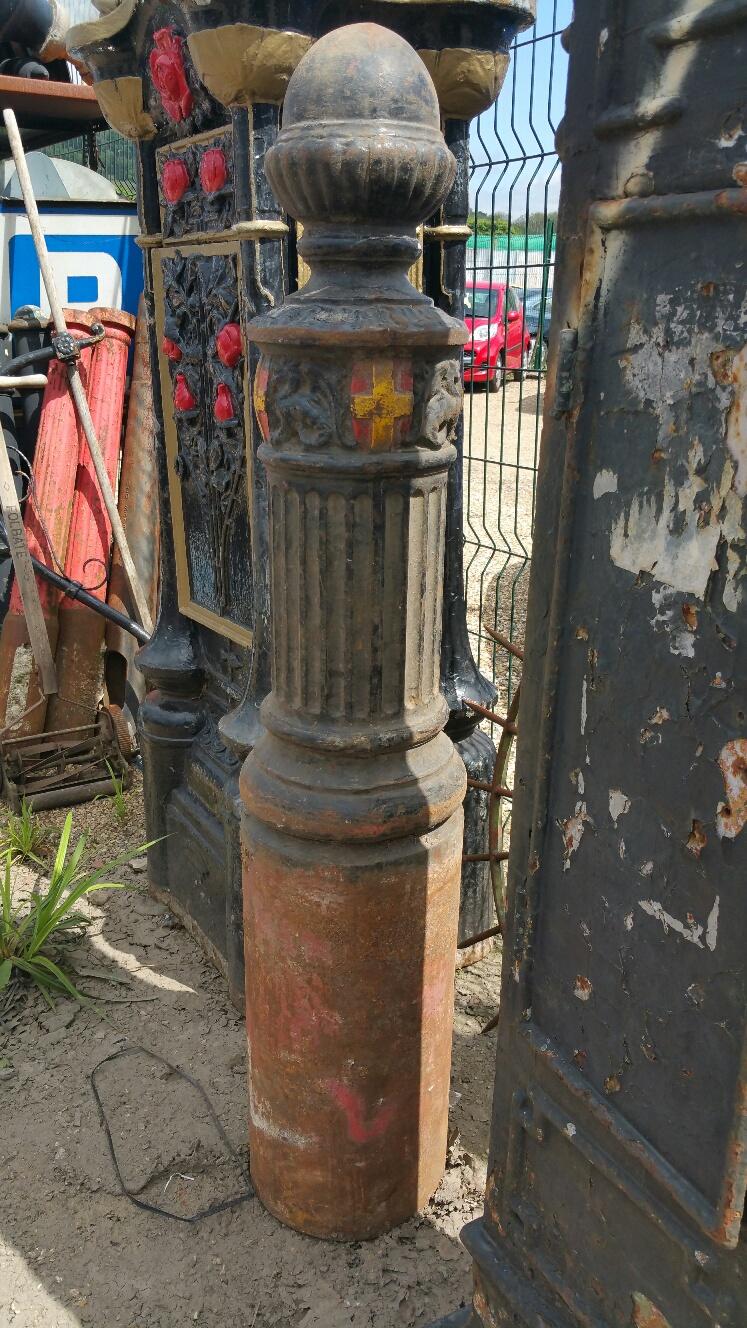 Rare Westminster Ornate Cast Iron Bollards