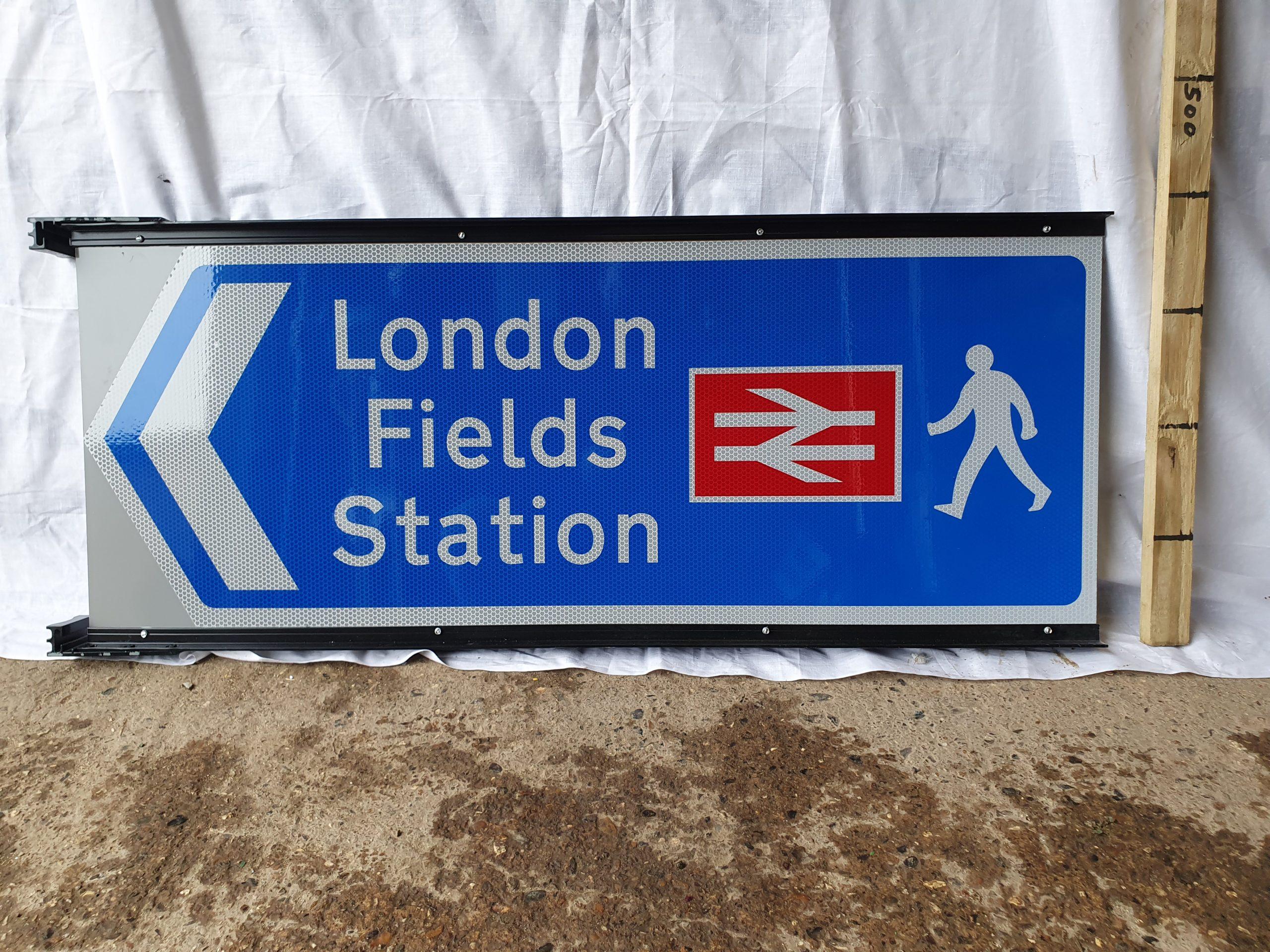 London Fields Station Network Rail Railway Station Sign