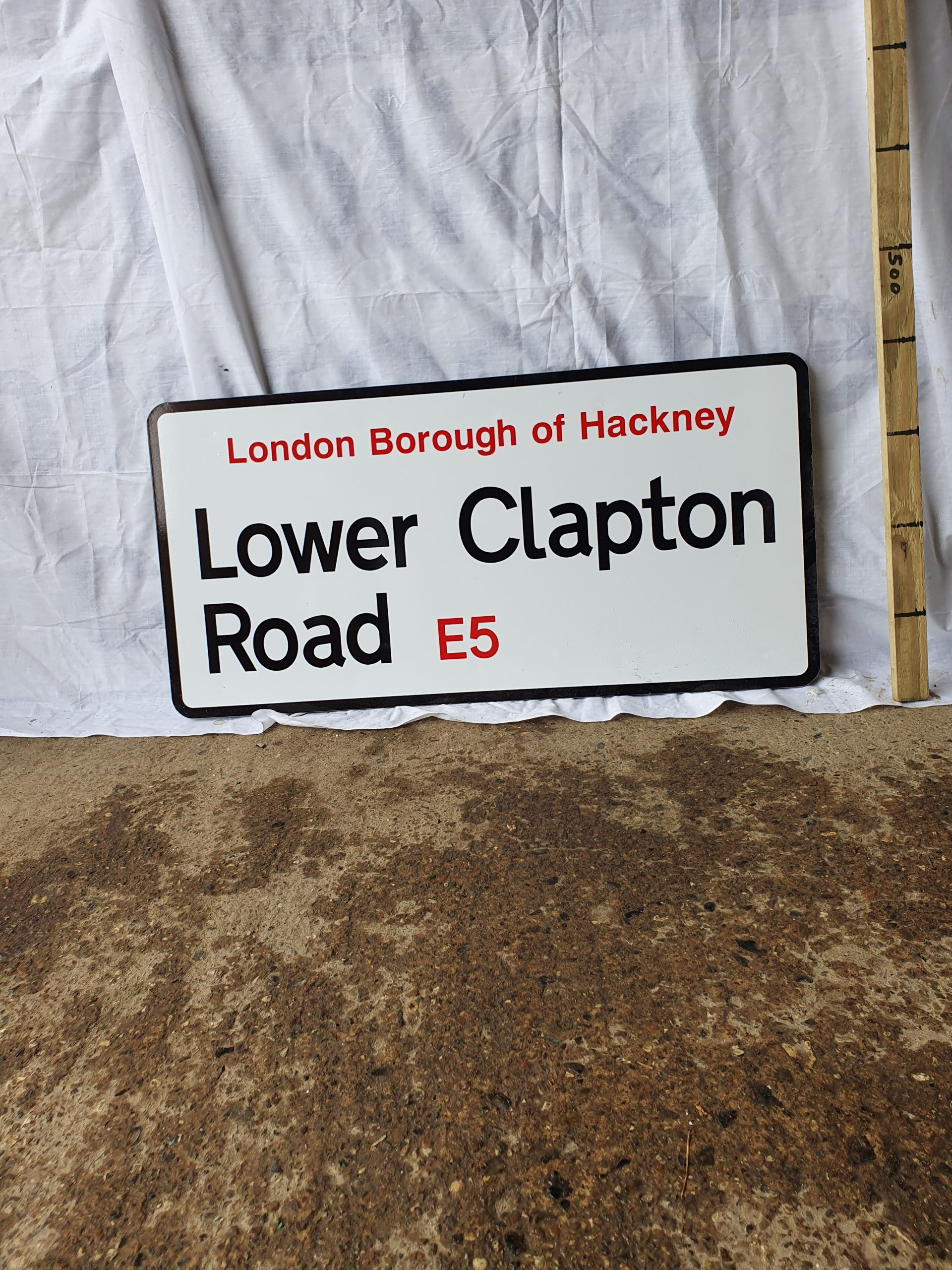 Lower Clapton Road Sign Hackney E5