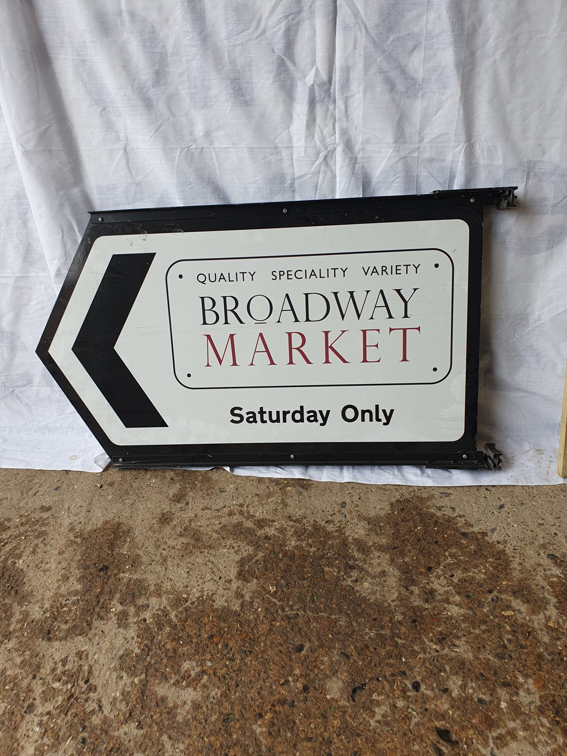 Broadway Market Camden Sign – Double Sided
