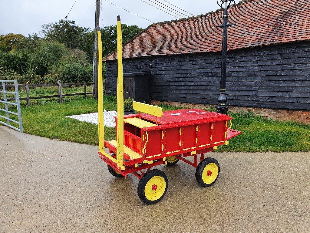Vintage Wood Donkey / Pony Cart