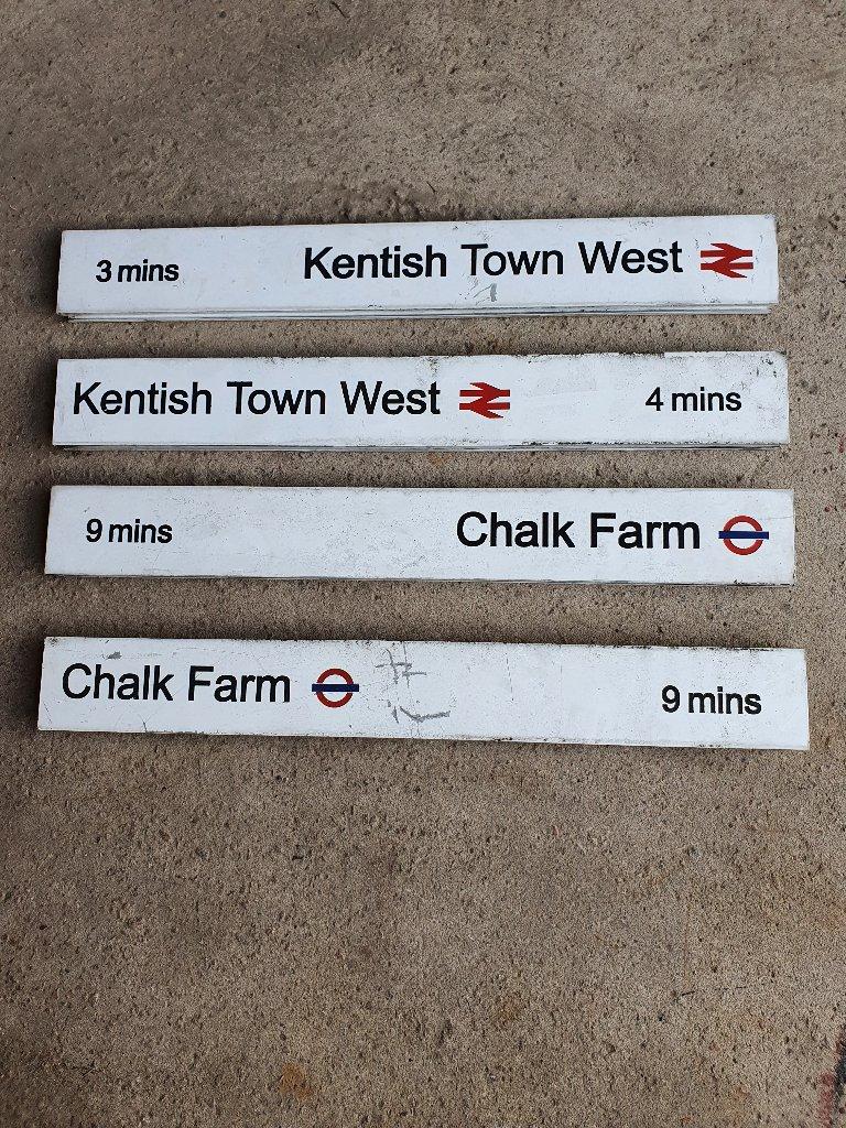 Railway & London Underground Aluminium Finger Post Signs