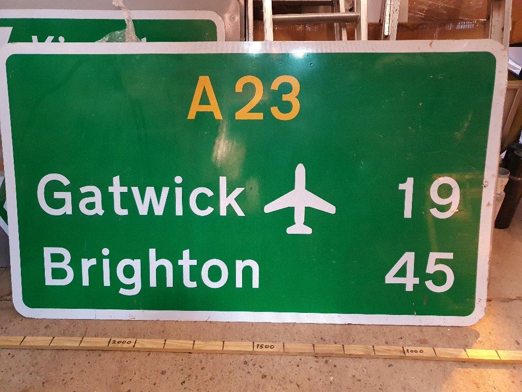 Sign – A23 Gatwick, Brighton,1 Piece Sign