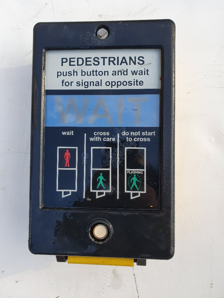 Pedestrian Crossing 3 Walk Button Push
