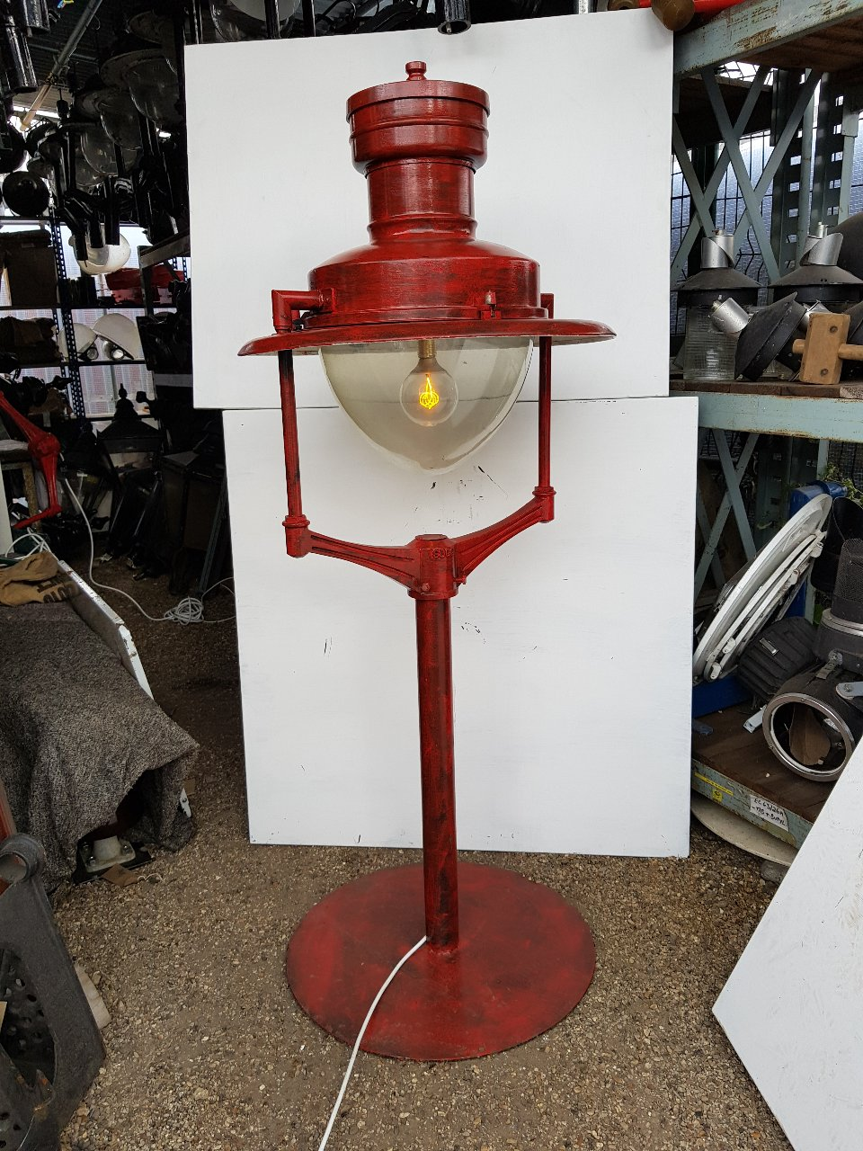 Red Sugs Up Cycled With Eddison Lamps