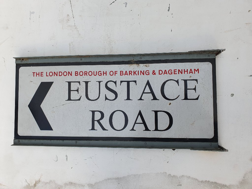 Eustace Road Street Name Sign