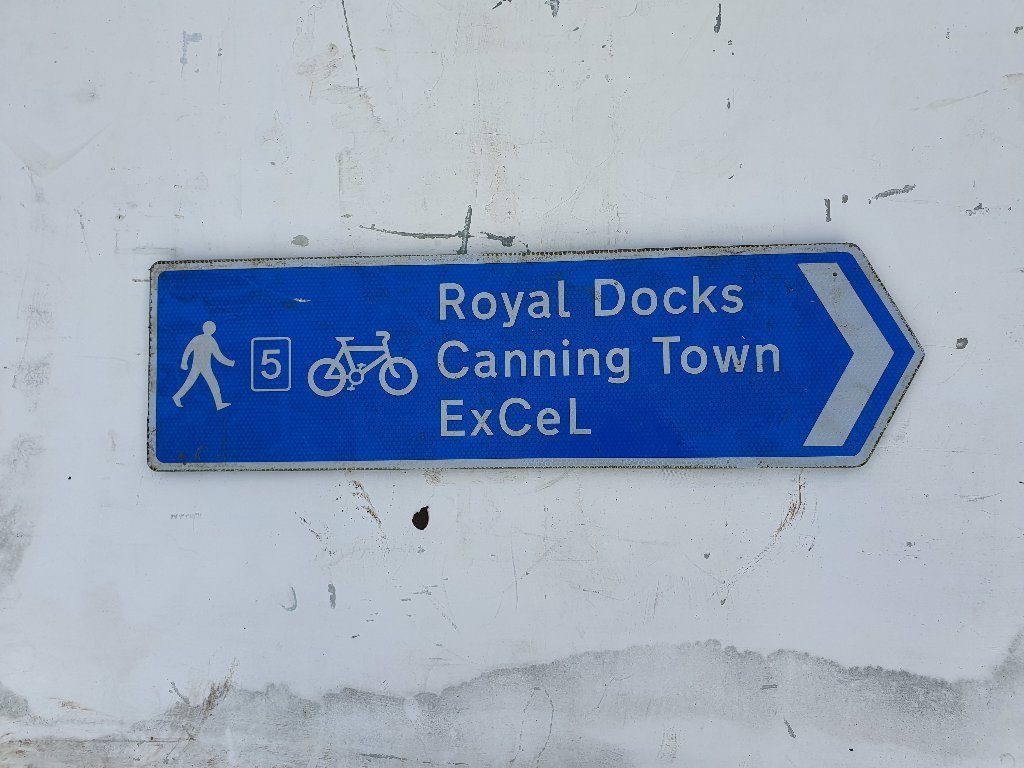Royal Docks Cycle Way Sign