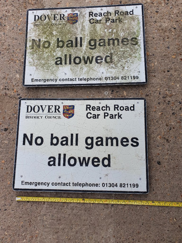 "Signs – Dover District Council ""No Ball Game Allowed"" Signs"