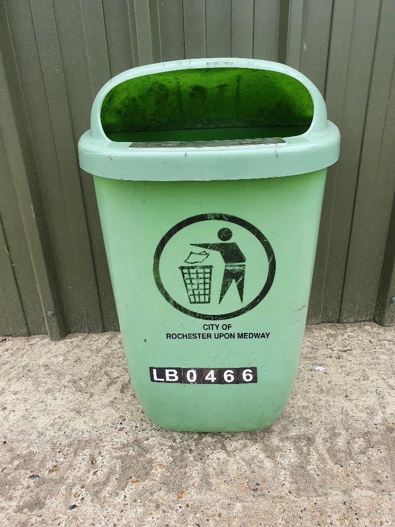 Green Public Plastic Waste Bin