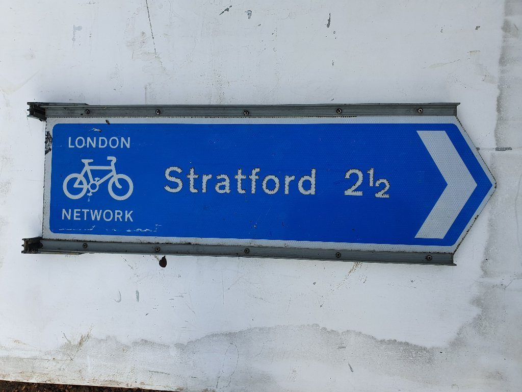 Stratford (Olympics Site) Cycle Way Sign