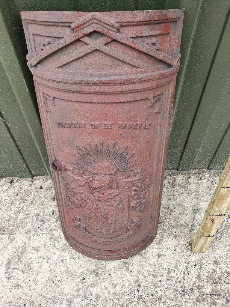 Large Cast Iron Post Door Borough Of St Pancras