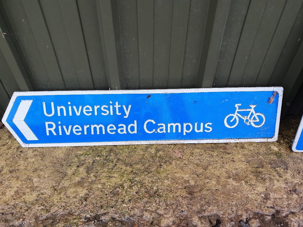 Sign – University Rivermead Campus Cycle Way