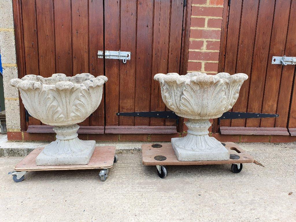 Ornate Concrete Planters