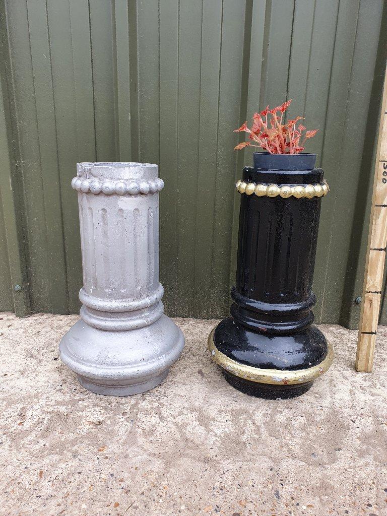 Tall Fluted Aluminium Embellishment – Planters