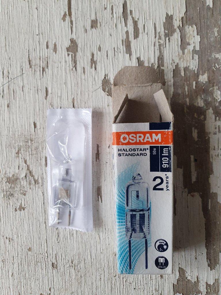 Lamp – Osram Halostar Pin Base Halogen Lamp 64440 Gy635 12V 50W 910lm