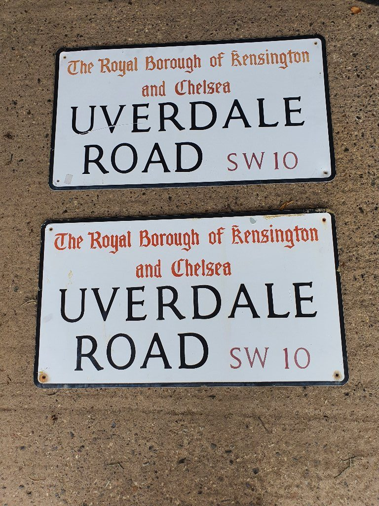 Royal Borough Of Kensington And Chelsea Vintage Street Name Signs