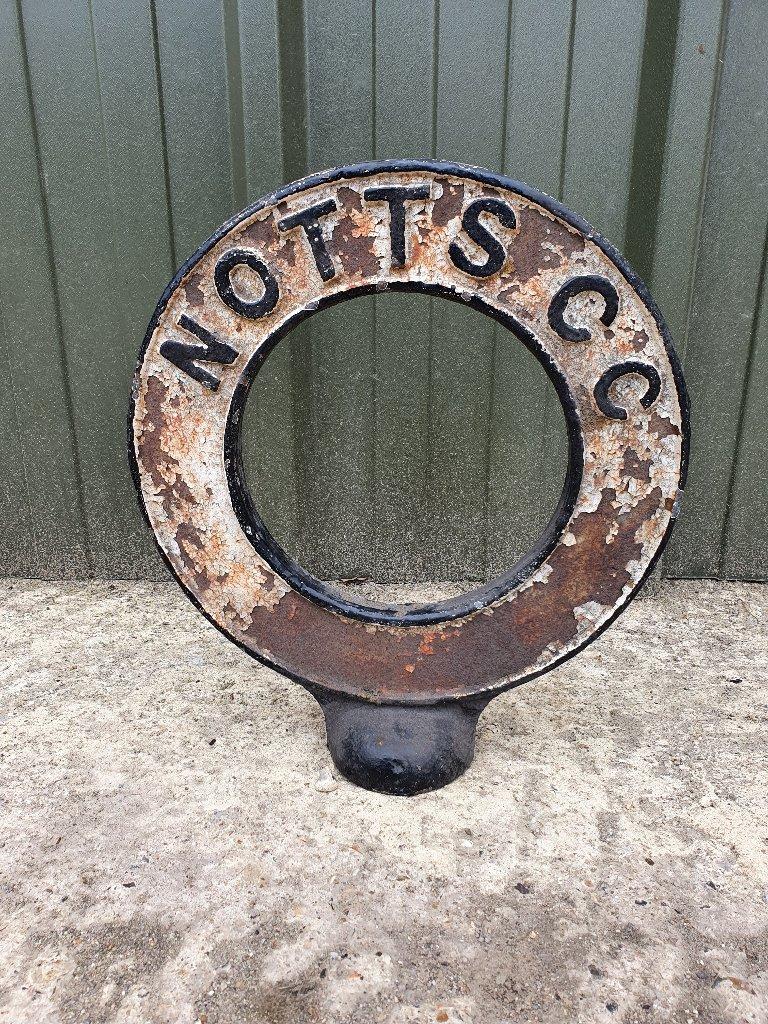 Antique Cast Iron Finger Post Top – Nottinghamshire County Council