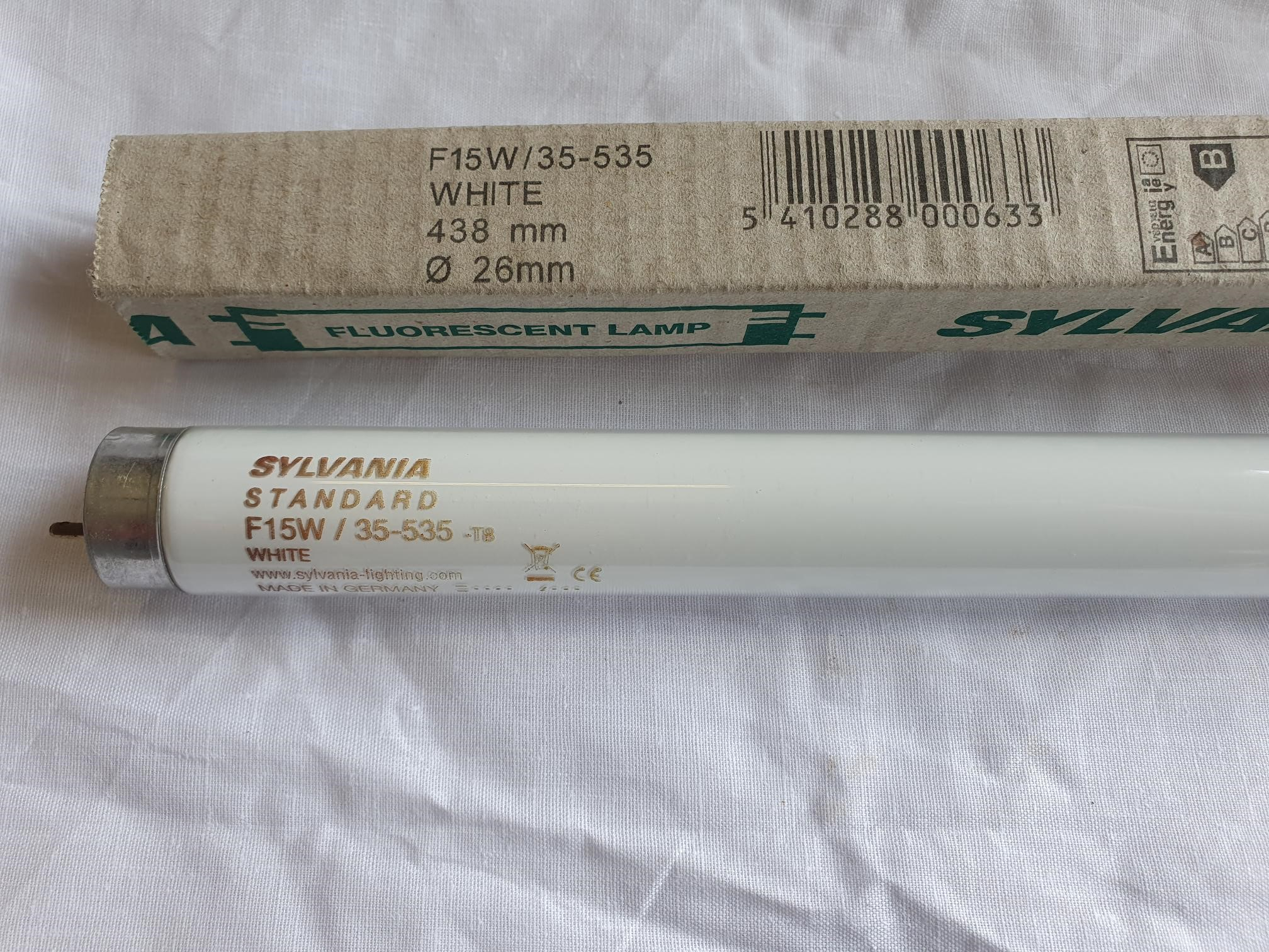 Sylvania Florescent Tubes F15W  35 – 535 White Standard 438 Mm Long